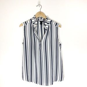 Ann Taylor Factory Black and white striped blouse
